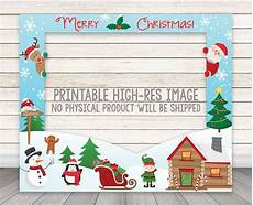 printable christmas photo booth frame holiday party photo booth frame photo booth prop merry