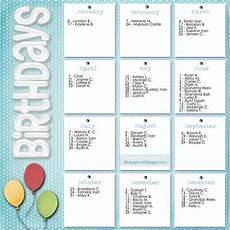 Family Birthday Calendar Template Diy Ideas Family