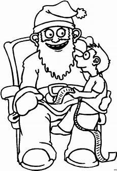 junge mit weihnachtsmann ausmalbild malvorlage comics
