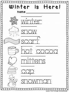 winter writing activities for kindergarten trace and