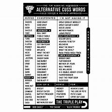 profanity word list alternative cuss words list tim hawkins cuss words words