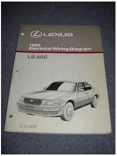 automotive service manuals 1999 lexus ls on board diagnostic system 1992 lexus ls400 electrical wiring diagram service manual ebay