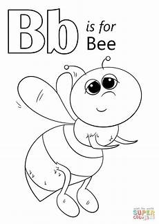 color the letter b worksheets 24028 letter b is for bee coloring page free printable coloring pages