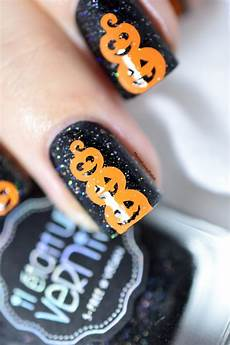 halloween pumpkins nail art video tutorial marine