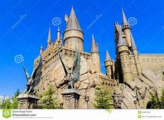 Harry Potter Schule - panorama of the hogwarts school of harry potter editorial