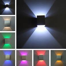 square up and down led wall light 3w wall led spot light recessed hall walkway living bed room