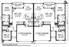 single story duplex house plans duplex plan chp 33733 with images duplex plans house