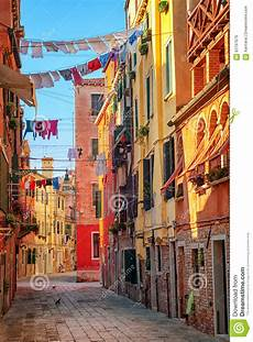 Clothes Lines On A In Venice Italy Stock Photo
