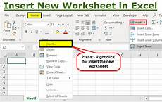 how to insert a new worksheet in excel step by step shortcut