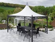 Gartenpavillon Metall 4x4 - metall pavillon roma 3x3 4x4 mein gartenpavillon