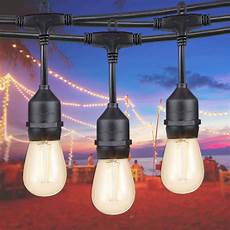 led set 50ft commercial outdoor led string lights set 16 sockets