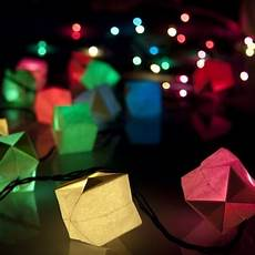 Gorgeous Diy Paper Cube String Lights