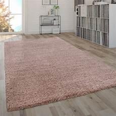 hochflor teppich shaggy hochflor shaggy teppich uni pink flauschig teppich de