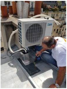 pose de climatisation installation climatisation 224 sur toit climeden