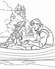 Ausmalbilder Rapunzel Malvorlagen Pdf Beautiful Princess Rapunzel And Flynn On A Boat Coloring