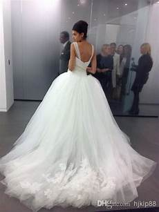 2014 custom made tulle big poofy ball gown wedding dresses