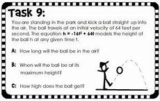 quadratic word problem worksheets 11121 quadratic word problems task cards binomials by scaffolded math and science