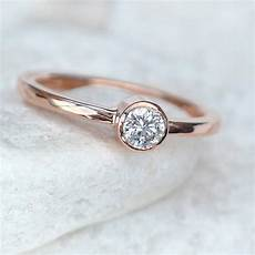 diamond engagement ring in 18ct rose gold by lilia nash jewellery notonthehighstreet com