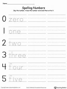 tracing and writing number words 0 5 myteachingstation com