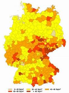 radonbelastung bayern karte radon in geb 228 uden
