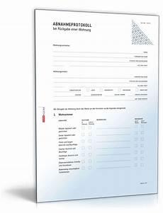 übergabe wohnung an vermieter abnahmeprotokoll wohnungs 252 bergabe muster vorlage zum