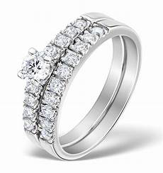 matching diamond engagement and wedding ring 0 66ct platinum dn3224 item sdn3224