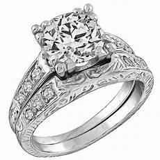 diamond platinum engagement ring and wedding band for sale at 1stdibs