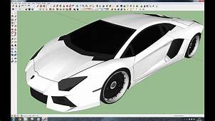 Making Lamborghini Aventador LP700 4 In Google Sketchup