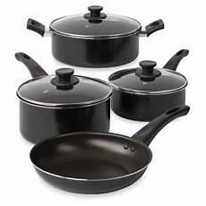 Kitchen Essentials Non Stick Cookware by Essential Home Skpl002 7 Pc Non Stick Aluminum Cookware Set