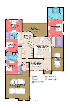 single level house plans one level house plan with secluded master suite 86299hh