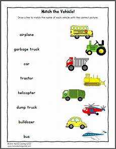 vehicles worksheet for preschool 15244 transportation worksheets mamas learning corner