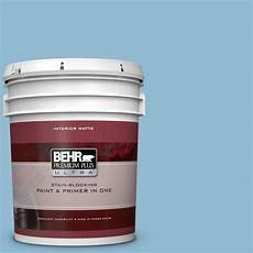behr premium plus ultra 5 gal m500 3 blue chalk color matte interior paint and primer in one