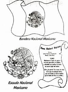 simbolos patrios y naturales para colorear 為孩子們的著色頁 mexican flag coat of arms and national anthem