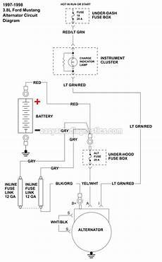 Part 2 Alternator Wiring Diagram 1996 1998 3 8l V6 Ford