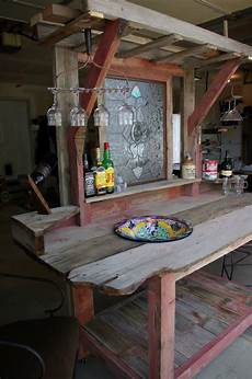 theke selber bauen reclaimed rustics barn wood patio bar