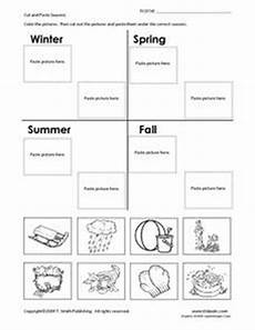 seasons worksheets cut and paste 14760 cut and paste seasons 1st 2nd grade worksheet lesson planet