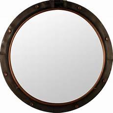 miroir rond metal miroir rond m 233 tal quot hublot quot 74cm marron