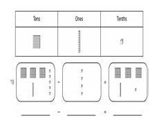 decimals base ten blocks worksheets 7074 decimal subtraction base ten blocks worksheets