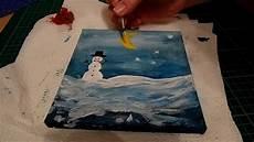 winterbilder zum basteln ich mit acryl weihnachtsbild winter schnee