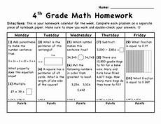 weekly math homework calendar march ccss aligned by