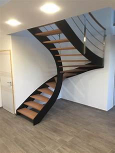 escalier bois et metal pas cher escaliers contemporains metal sarth escaliers