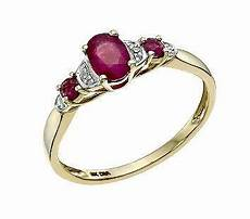 9ct yellow gold diamond ruby ring by h samuel jewellery rings yellow gold rings