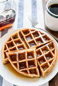 whole wheat waffles easy blender recipe with applesauce
