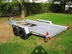 carrelli porta auto usati vendo carrello ellebi 2 assi per trasporto auto da rally