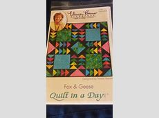 """NIP ELEANOR BURNS SIGNATURE QUILT IN A DAY """"FOX & GEESE"""