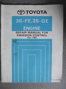 old cars and repair manuals free 1992 toyota 4runner windshield wipe control toyota emission control repair manual 3s fe 3s ge 1992 erm089e jacks workshop manuals for sale
