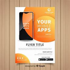 for free mobile mobile app flyer template vector free