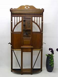 garderobe wandgarderobe jugendstil um 1900 antik eiche ebay