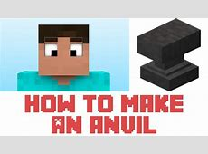 how to repair an anvil minecraft