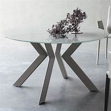 table ronde metal table ronde design extensible en verre et m 233 tal vale 4